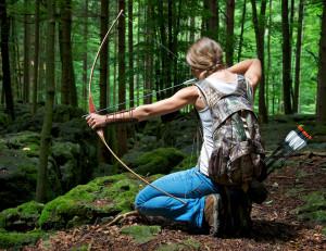 wallpaper-archery-girl-outdoor